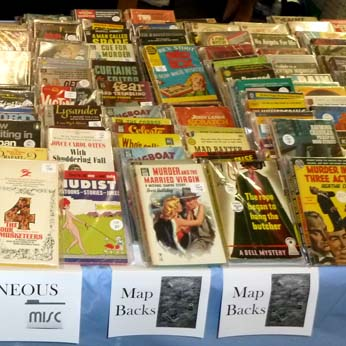 Books for sale at the Los Angeles Vintage Paperback Show, 2018